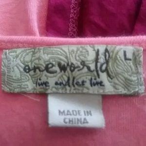 ONE WORLD Tops - Oneworld boho blouse large